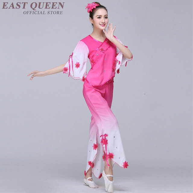 Chinese folk dance clothing pant suits Chinese dance costumes yango drum  fan stage dance wear outfit 602c44800