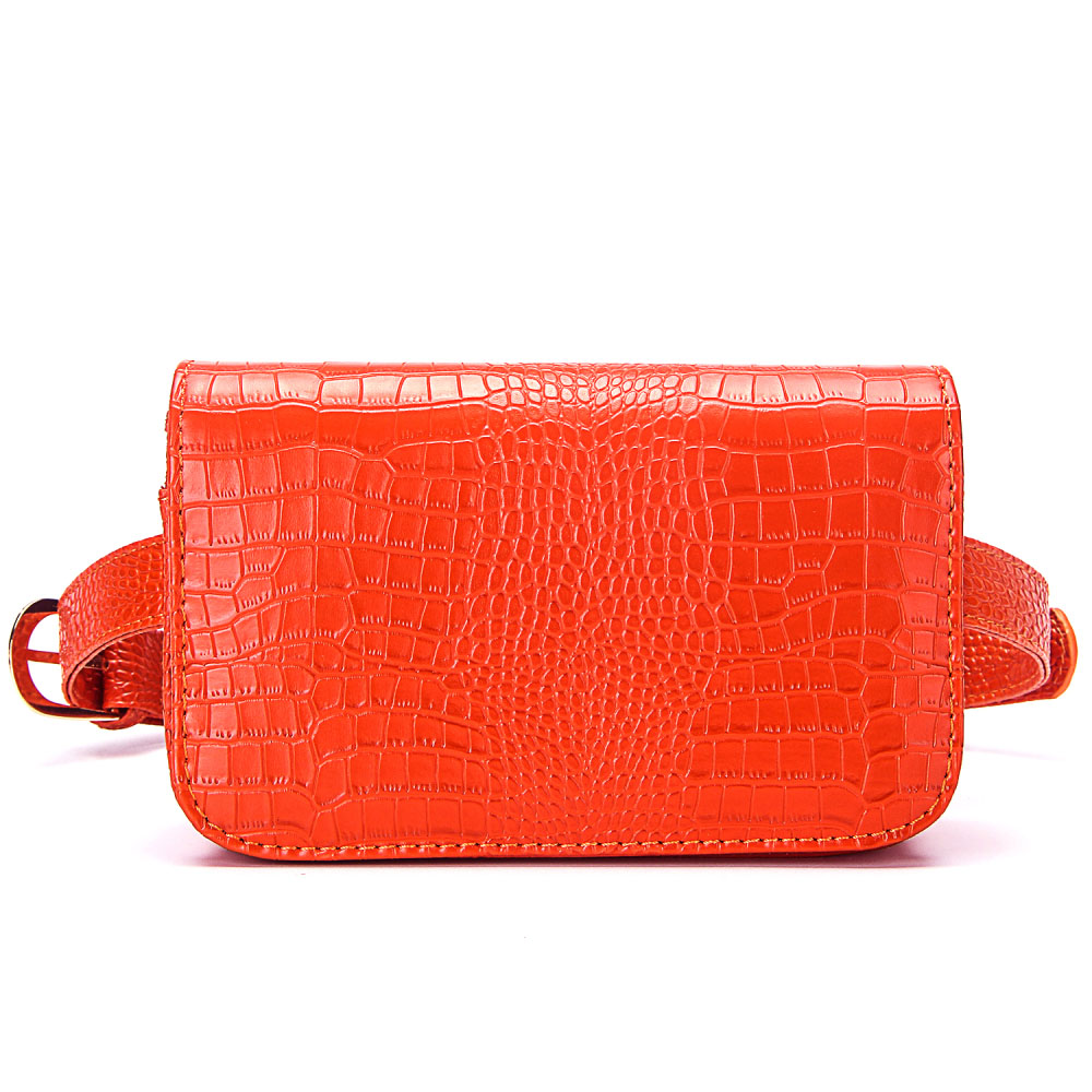 Luxury Brand Waist Packs Women Crocodile Pattern PU Leather Fit 5.5 Inches Phone Funny Bags Ladies Travel Money Wallet Belt Bag