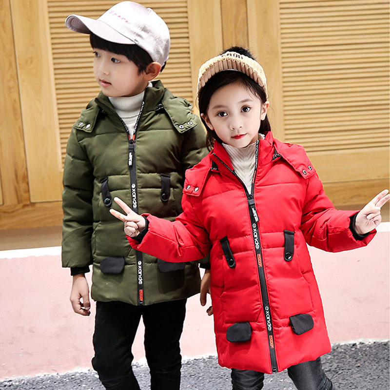 Hooded Jackets For Girls Autumn Winter Down Jackets Boys Clothes Boys Outerwear Coats For Girl Parkas Children's Clothing