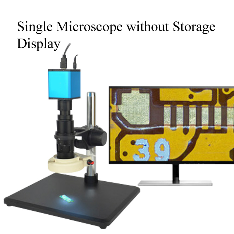 Автоматический Фокусировочный микроскоп Высокое Разрешение HDMI высокоскоростное электронное видео измерение для 14 миллионов промышленных электронных - Цвет: Коричневый