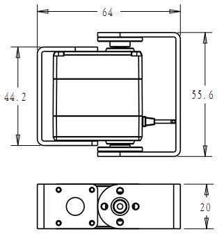 1X Robot servo 25kg RDS3225 metal gear digital servo arduino servo with Long and Short Straight U Mouting