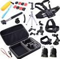 Gopro acessórios 30 in1 Pólo Cabeça Chest Strap Mount Para GoPro Hero 3 + 4 Acessórios Da Câmera Conjunto Kit