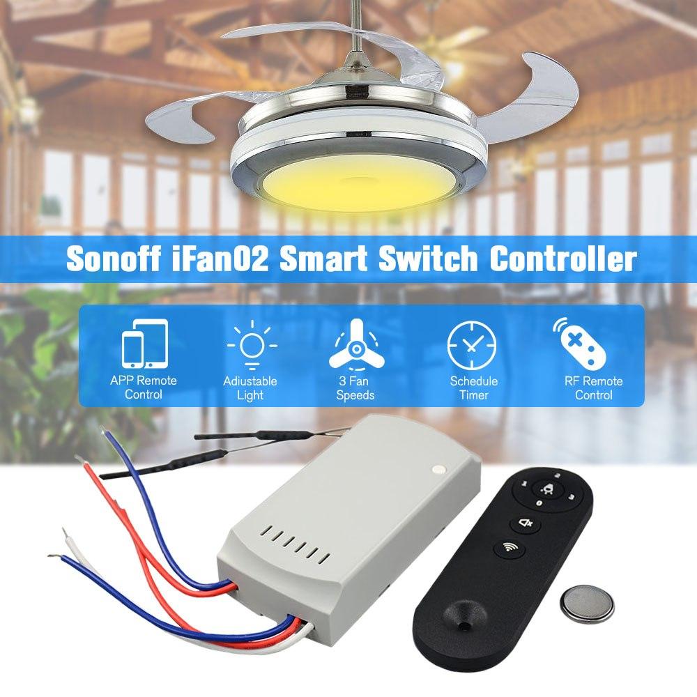 Sonoff Ifan02 Led Ceiling Fan Smart Switch Controller
