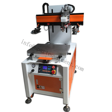 Economical automatic run-table label screen printing machine with vacuum