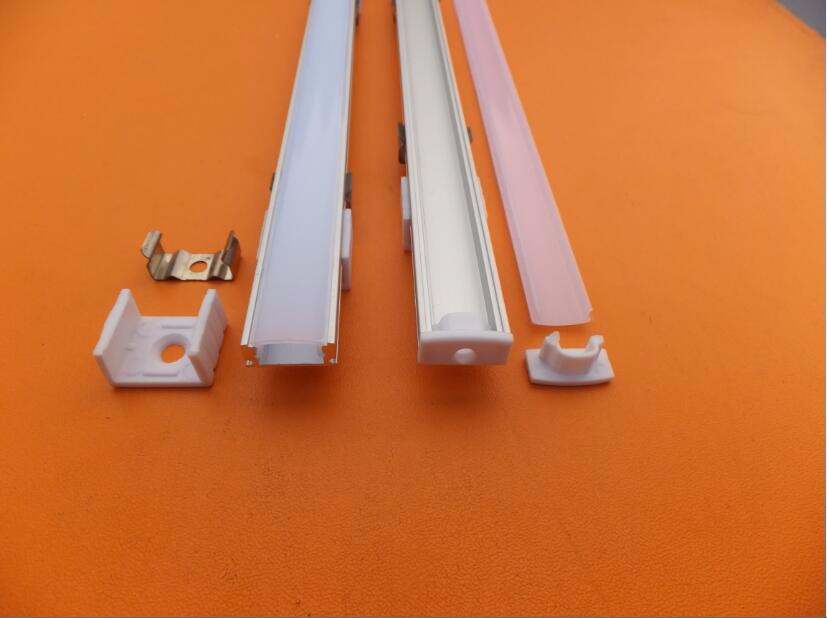 Free Shipping 2.5m/pcs LED slim aluminum profile channel for 2835 5050 5630 8520 4014 strip Bar Light jewelry counter