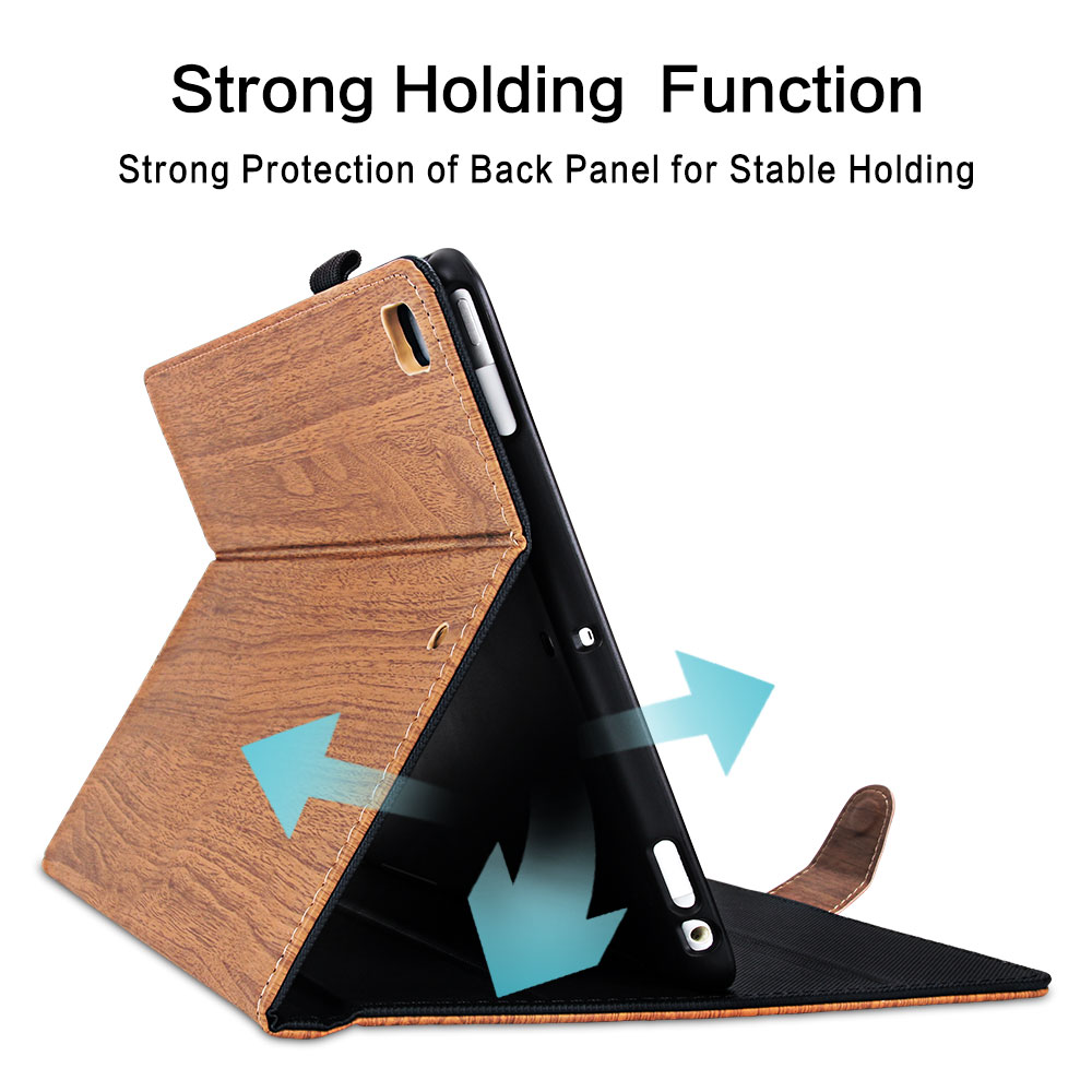 Case Flip PC 7th 10.2 Wood 2019 iPad Pattern For iPad 10.2 for Generation Cover Smart
