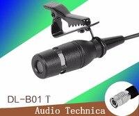 برو lavalier ميكروفون ل نظام الصوت تكنيكا اللاسلكية مع هيروس 4 دبوس موصل الأسود
