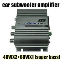 New Super Bass 40WX2 60WX1 Hi Fi 2 1 Channel Stereo Mini Computer Car Amplifier Subwoofer