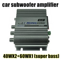 New Super Bass 40WX2 60WX1 Hi Fi 2 1 Channel Stereo Mini Computer Car Amplifier Subwoofer