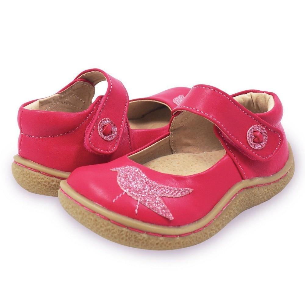 TipsieToes superior calidad de marca de cuero genuino niños niño niña niños zapatos de moda pies descalzos zapatillas Mary Jane envío gratis