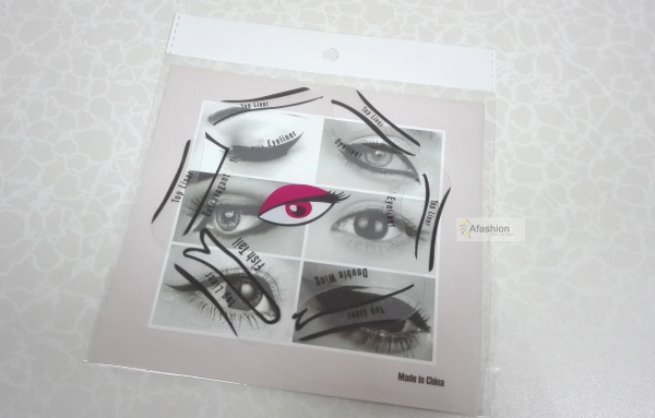 1pc Super style eyeliner stencil kit 6 model for eyebrows template the eye makeup a guide diy card 2