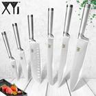 XYj 7Cr17mov Germany Stainless Steel Knives Fruit Utility Santoku Knife Chef Slicing Bread Vegetable Knives Kitchen Knife Sets