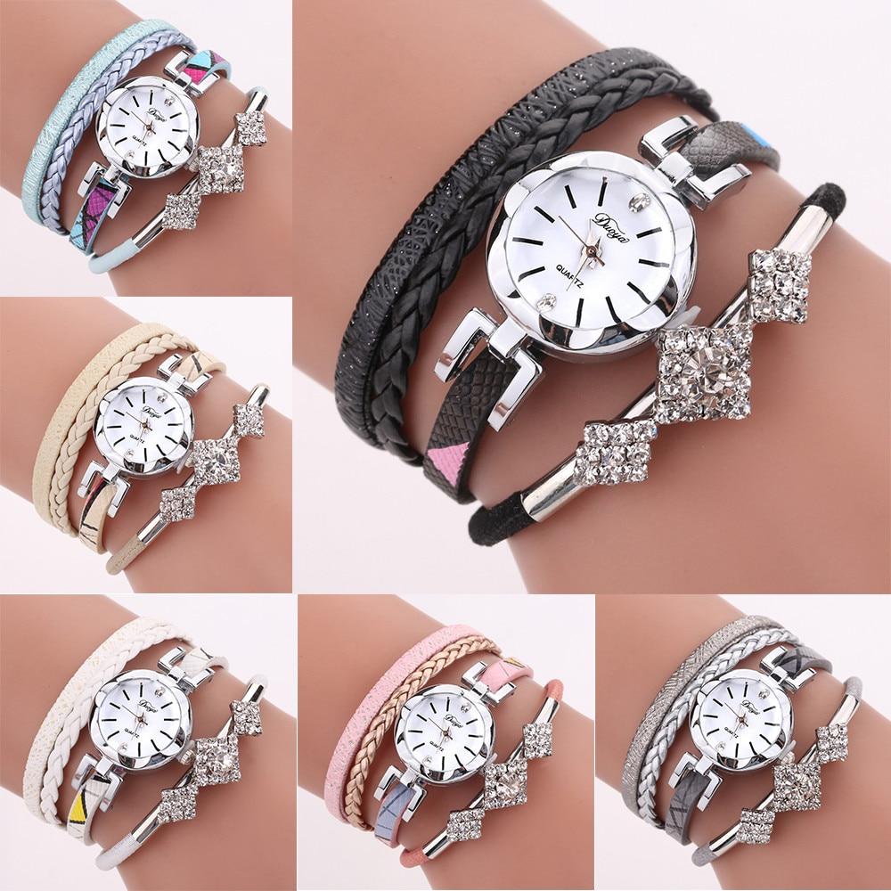 Fashion Women Girls Ladies Fashion Jewelry Watches Bracelet Wristband NEW Bracelet clock women 2018 woman wach Hours quartz