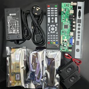 Image 5 - v56 LCD TV Controller Driver Board full kit DIY monitor for 30pin 2ch 8bit 4pcs CCFL LVDS panel LCD accessories  756284