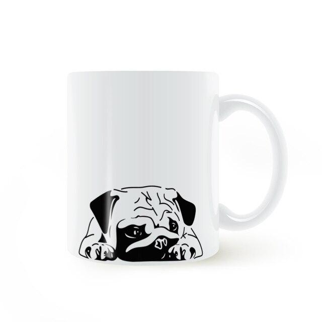 English Bulldog Tired Puppy Mug Coffee Milk Ceramic Creative Cup Diy Gifts Home Decor Mugs 11oz