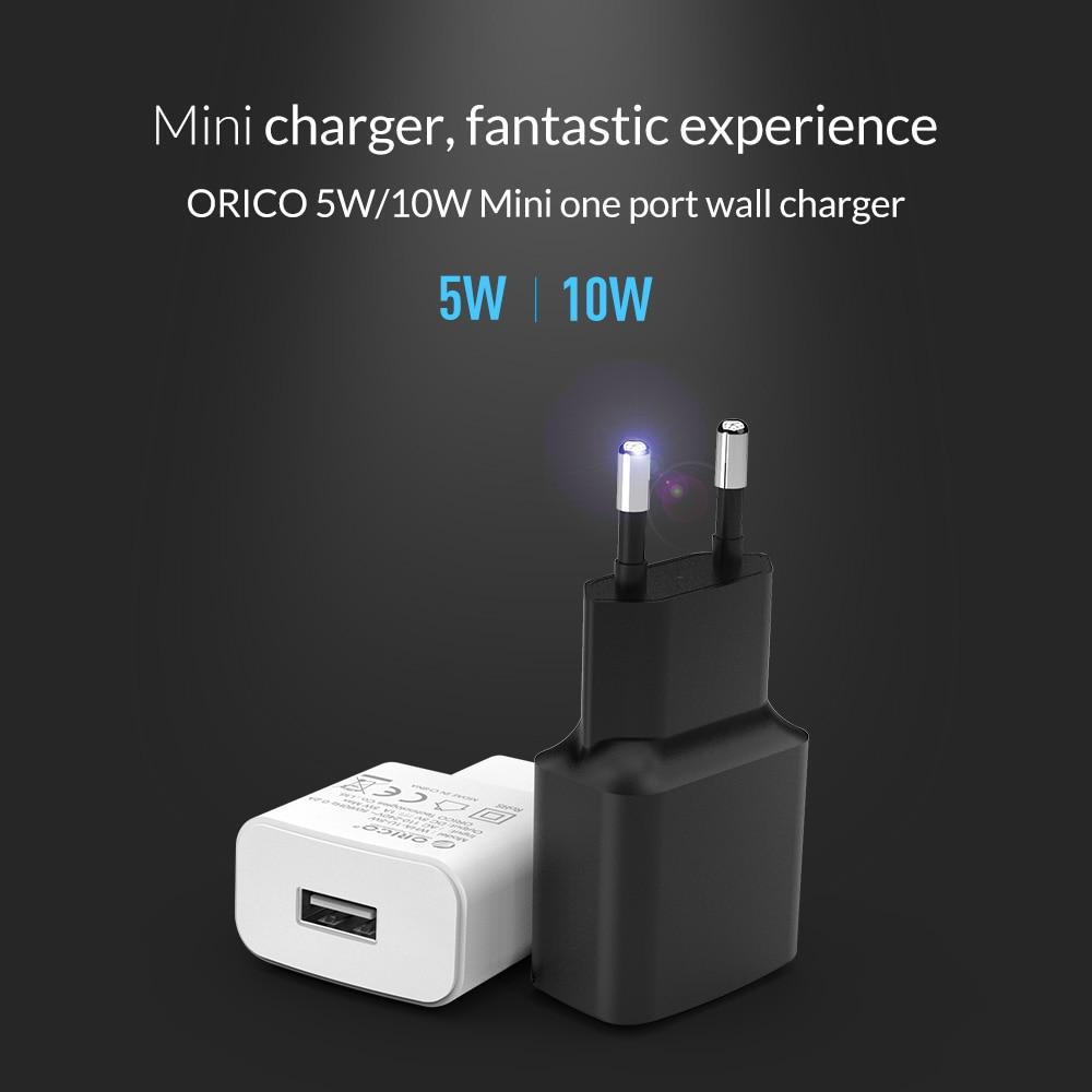 ORICO Travel USB Oplader 5V2A 5V1A EU Plug Mini Oplader Adapter Smart - Mobiltelefon tilbehør og reparation dele - Foto 2