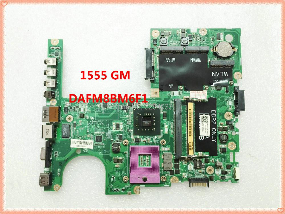 DAFM8BMB6F1 Motherboard for dell studio 1555 0D177M CN-0D177M GM45 1555 Integrated graphics motherboard 100% original d177m cn 0d177m dafm8bmb6f1 laptop motherboard for dell 1555 integrated ddr2 gm45 full tested free shipping
