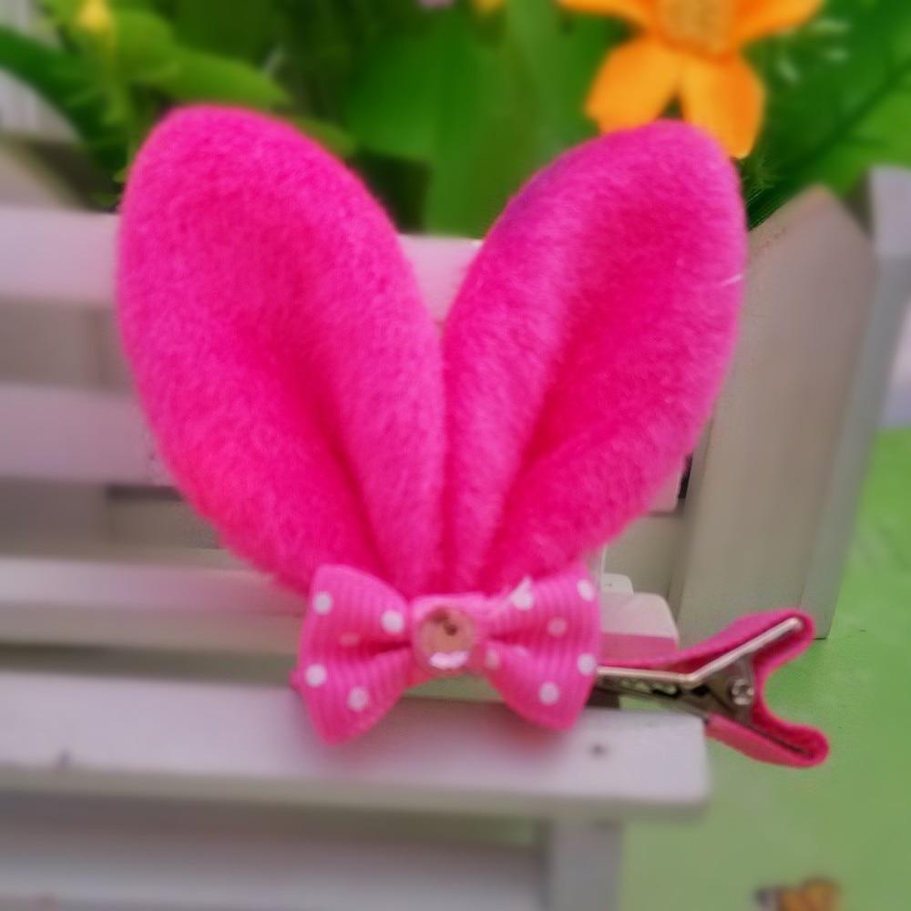 M MISM, новые аксессуары для волос для девочек, Разноцветные Милые заячьи ушки, шпильки для волос в горошек, Детская Милая заколка для волос