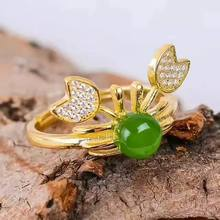 Серебро 925 пробы зеленое кольцо из яшмы модный подарок для