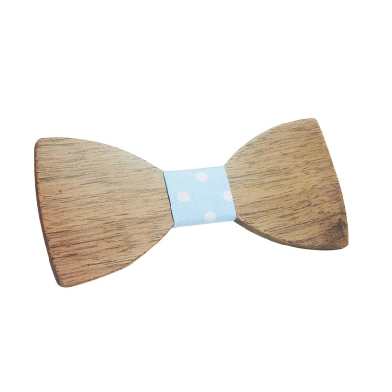 Adult Fashion  Wooden Bow Ties Butterfly Men Party Bowtie Costume Decor Bowtie
