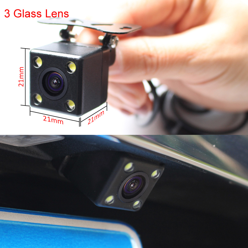 HD Video Parking Monitor LED Night Vision Glass Lens CCD Car Rear View Camera With 4.3 inch Car Interior Mirror Monitor