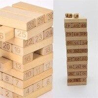 51 Cái Số Mới Xây Dựng Bằng Gỗ Giáo Dục Khối Domino Kid Lắp Ráp Log Đồ Chơi