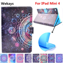 Wekays For Apple IPad Mini 4 Stand Smart Leather Flip Fundas Case For Coque IPad Mini 4 Mini4 Tablet Cover Case For IPad Mini 4