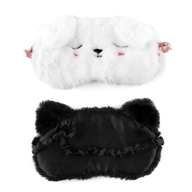 Cute Cartoon Cat White Dog Eyemasks