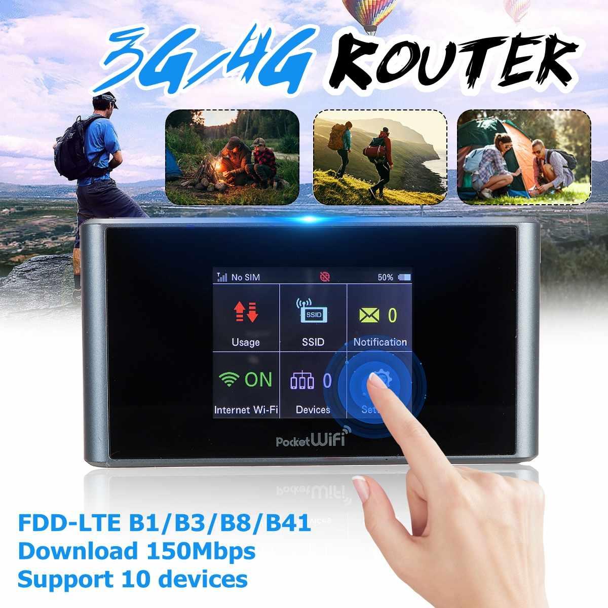 Routeur sans fil Portable Lte 4g Wifi routeur sans fil Hotspot prise en charge de la carte SIM Modem 150 Mbps pour téléphone Portable