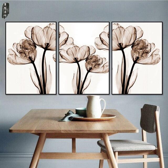 8 66 Fleurs Toile Art Affiches Et Impressions Nordiques Images Decoratives Pour Salon Moderne Decoration De La Maison Abstraite Toile Peinture Dans