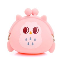 Cute Wallet Owl Silicone Coin Purse Cartoon Candy Color Coin Bag Jelly Coin Purse Women Purse Key Bags Earphone Organizer cartoon coin purse money bag wallet owl pattern