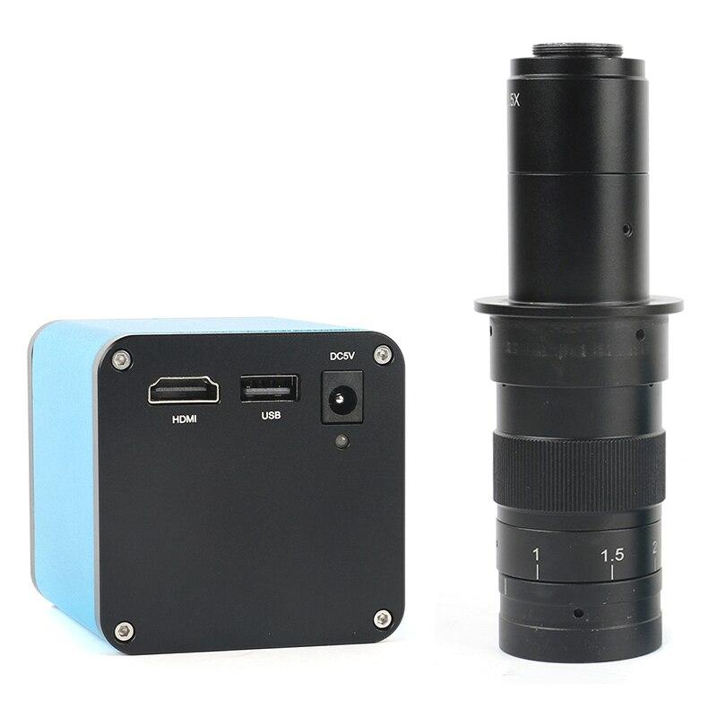 Messa a fuoco automatica 1080 p 60FPS SONY IMX290 HDMI Video Messa A Fuoco Automatica del Settore Video Macchina Fotografica del Microscopio 180X C-Mount Lens Per PCB SMT Riparazione