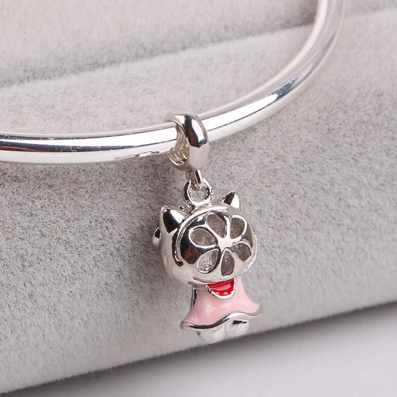02992ffab ... AIFEILI 2018 Silver Color Hello Kitty Charm Beads Fit Original Pandora  Bracelet Pendant Authentic DIY Jewelry ...