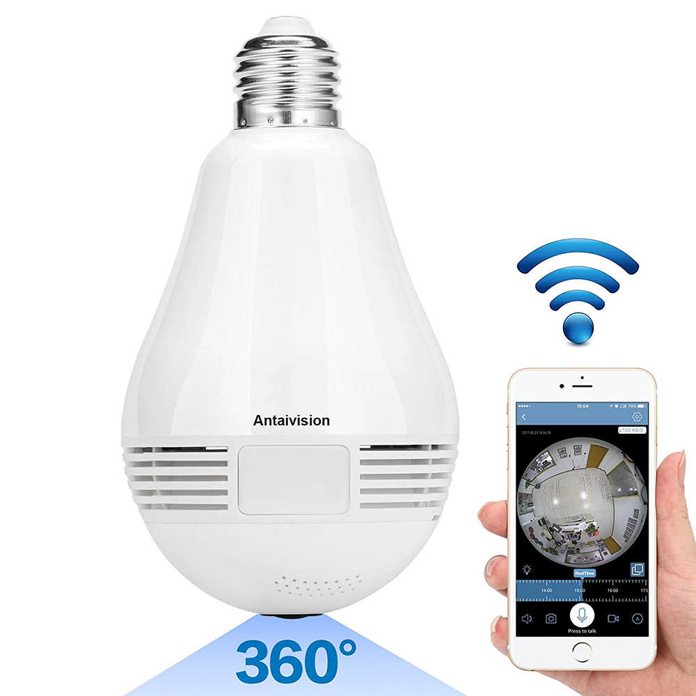 Panoramic 3D 360 Degree Camera WiFi 960P HD Mini Bulb Lamp Universal Adapter Wireless Exquisite Control By Mobile Phone for Home