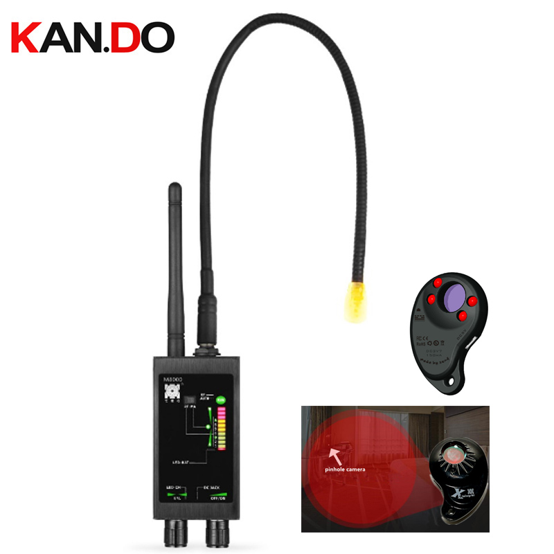 Détecteur de capteur d'aimant caché + 1 MHz-12 GHz détecteurs de Signal espion sans fil détecteur de Bug RF scanner de lentille espion GPS Tracker Finder