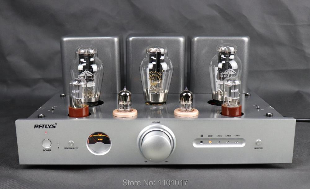 RFTLYS A3 300B Bluetooth Tube Amplifier HIFI EXQUIS Integrated Class A Single-ended AMP with Remote laochen 300b tube amplifier hifi exquis single ended class a handmade oldchen sliver amp