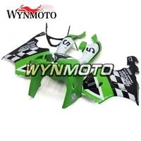 Full ABS Plastics Fairings For Kawasaki ZX7R ZX 7R 1996 2003 96 97 98 99 00 01 02 03 Motorcycle Fairing Kit Bodywork Green White