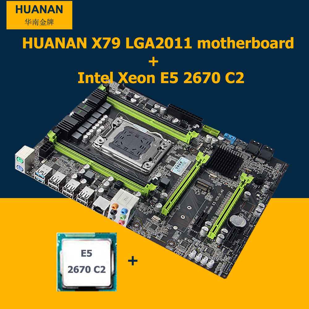 Huanan x79 motherboard cpu set x79 motherboard cpu for 2670 5
