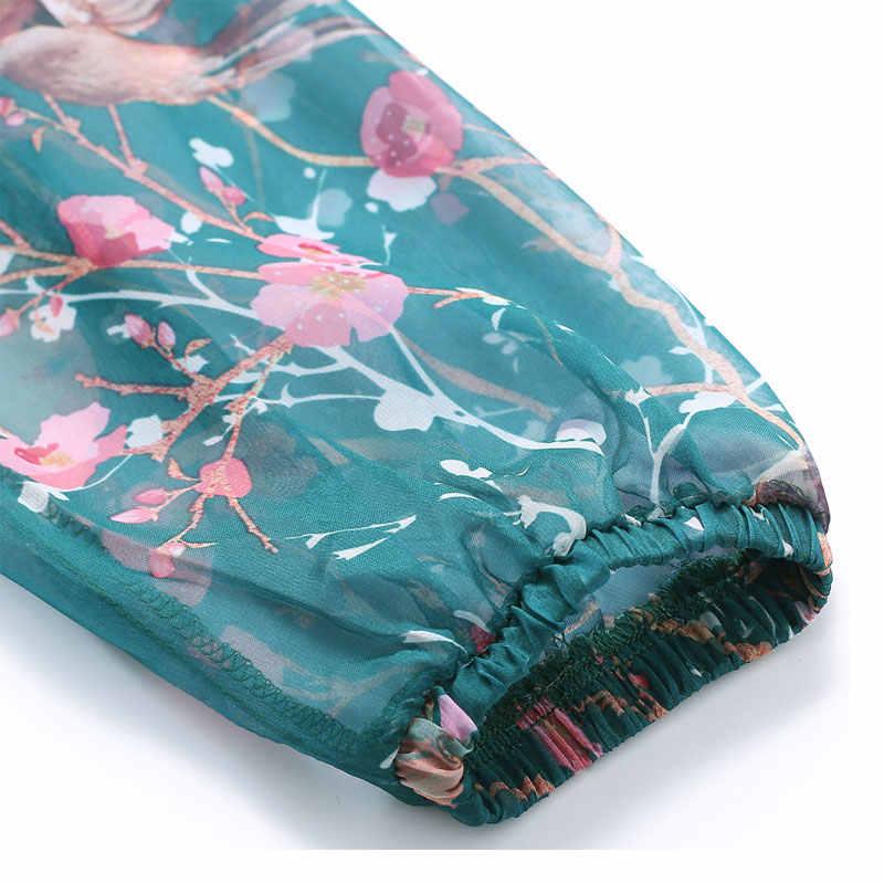 2018 новое летнее Шифоновое Платье макси с длинным рукавом богемное платье полного размера плюс платье знаменитостей/выпускного/ужина пляжный Сарафан