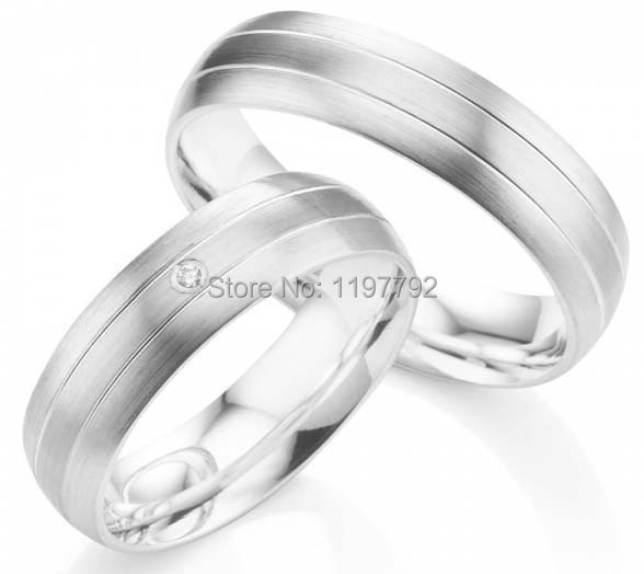 silver color  titanium couples rings  set for engagement wedding anniversarysilver color  titanium couples rings  set for engagement wedding anniversary