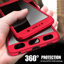 360 Full Cover For iPhone X XR XS Max Case PC Protective Phone Cover For iPhone 8 6 6s 7 Plus 5 5s SE Case Cover With Glass стоимость
