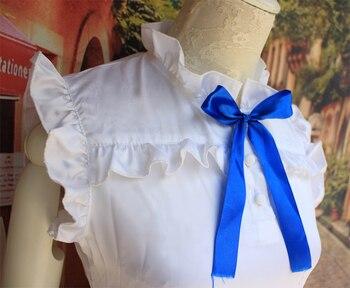 Anime traje de cosplay anohana Menma Meiko honma el disfraz de la flor para la fiesta de Halloween femenina juego de roles vestido blanco