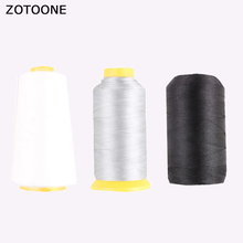 ZOTOONE Industrial Polyester Sewing Thread White Black Silver Machine Accessories Diy Embroidery Line Applications