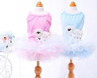 1 unids/lote perros gatos moda de encaje tutu vestido de perro de mascota gato precioso partido de la princesa faldas falda de boda perrito mascotas productos ropa