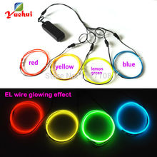 Wire-Light Electroluminescent Party-Supplies LED Neon Glow for Clothes-Toys/craft 4pcs