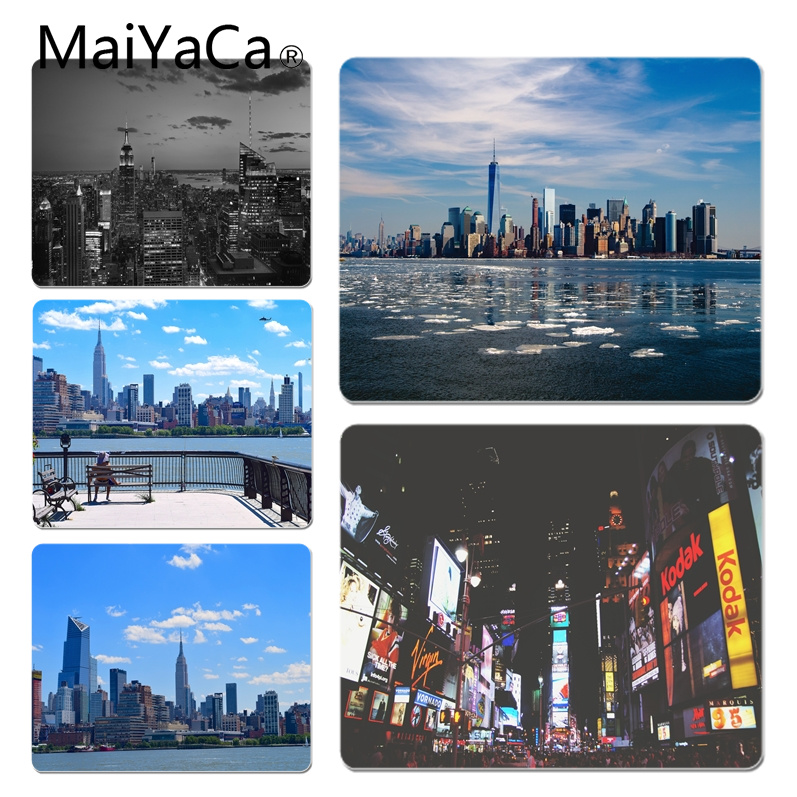 MaiYaCa 2018 New New York City Scenery Customized laptop Gaming mouse pad Size for 18x22cm 25x29cm Small Mousepad