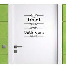 2019 New arrival Wall Paper Home Family Hotel Toilet Bathroom Sticker Door Tool Standard English Warning