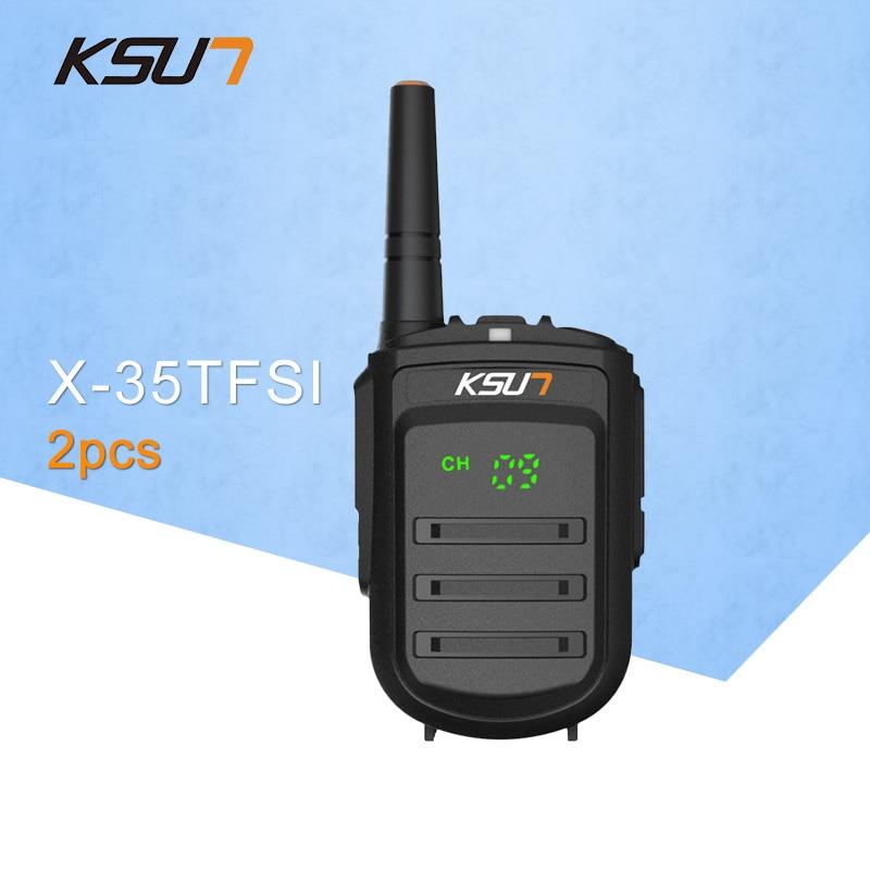 2 ΤΕΜ. KSUN X-35TFSI Walkie Talkie 8W Χειροκίνητο Pofung UHF 8W 400-470MHz 128CH Κινητό Ραδιόφωνο CB