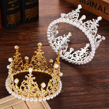 Children Crown Tiara Queen King Diadem Prom Headdress Boys and Girls Tiaras and Crowns for Birthday Cake hair jewelry