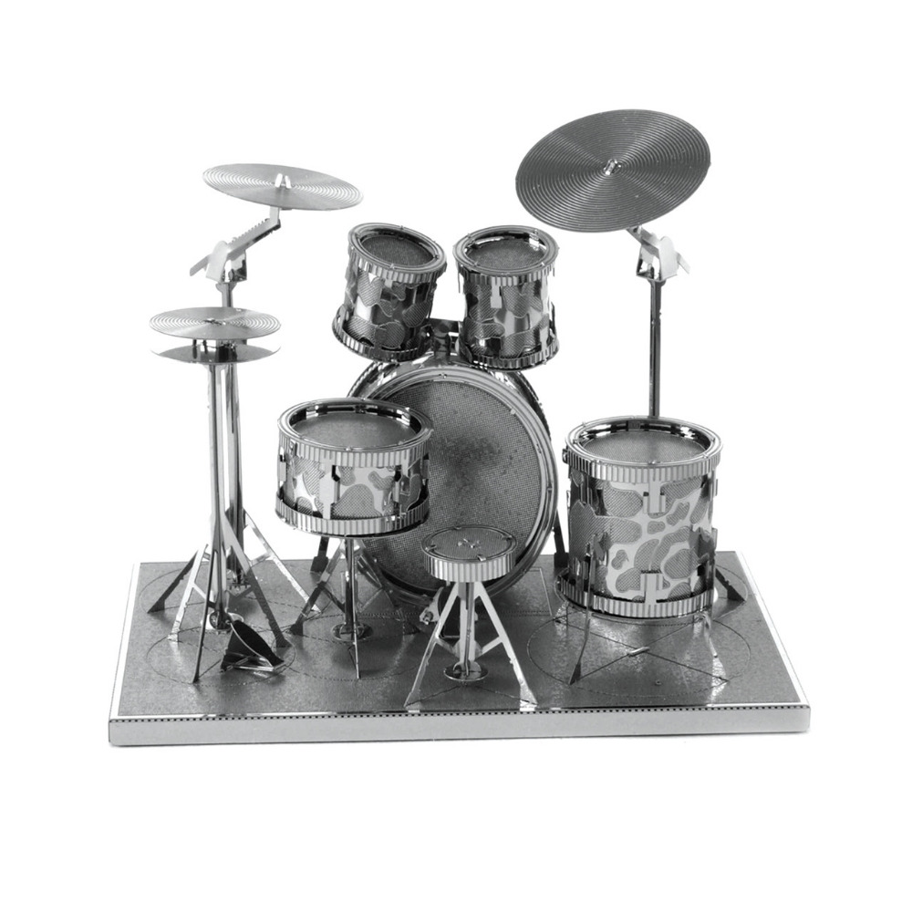 Drum Set 3D Metal Jigsaw Puzzle DIY Assembly Musical Instruments Model Creative Gift Educational Toys Puzzle For Children
